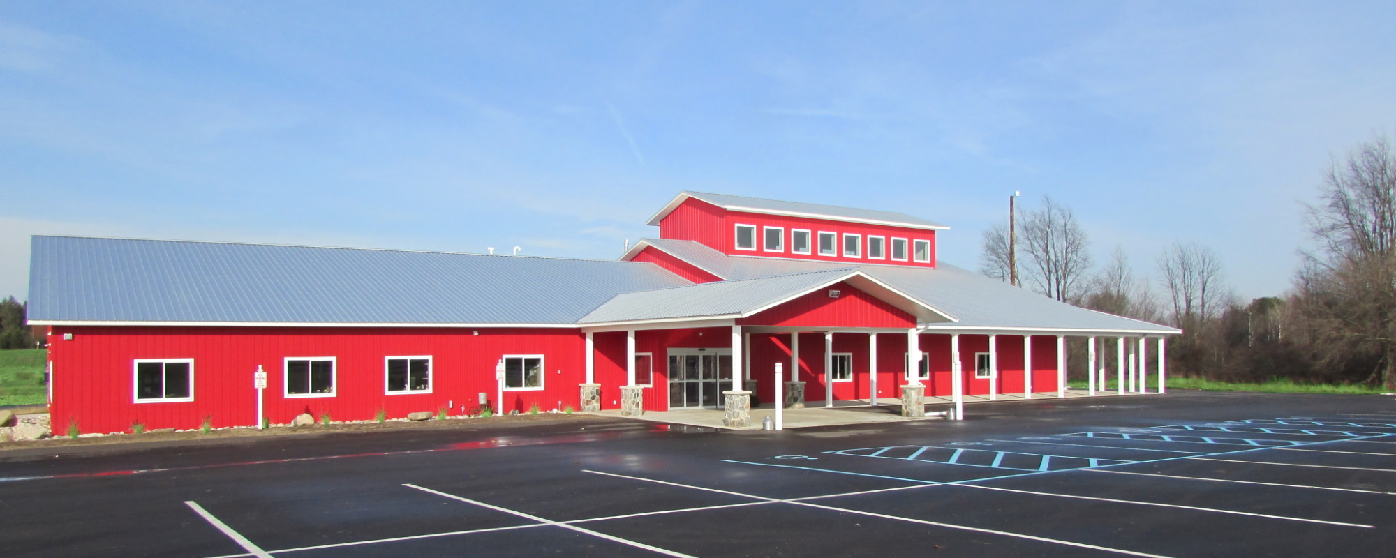 The new senior center pictured from outside.